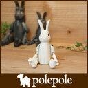 polepole ( ぽれぽれ ) 木製 雑貨 不思議の国のウサギ / ホワイト Sサイズ 【RCP】.