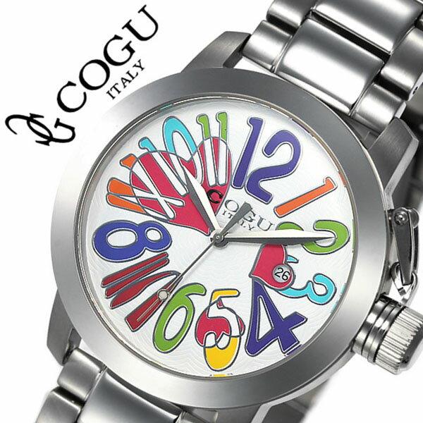 コグ 腕時計 COGU 時計 コグ 時計 COGU 腕時計 コグ腕時計 cogu時計 コグ時計 cogu腕時計 マルチカラー メンズ レディース 男女兼用 ホワイト マルチカラー CHS-WCL 生活 防水 人気 ブランド 送料無料