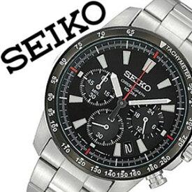 【延長保証対象】セイコー 腕時計 メンズ SEIKO 時計 セイコー 時計 セイコー 海外モデル セイコー 逆輸入 海外セイコー セイコー時計 SSB031PC SSB031P1 ブラック プレゼント ギフト 定番 防水 送料無料