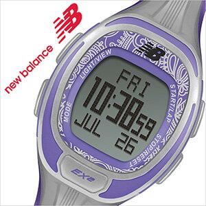 [初心者からプロまで幅広く使えます ]ニューバランス腕時計[newbalance時計]腕時計 グレー EX2-905-006 メンズ レディース[スポーツ トレーニング ランニング マラソン ジム アウトドア ジョギング 初心者 スポーツウォッチ 陸上 パープル][ 新社会人 就職祝い ]