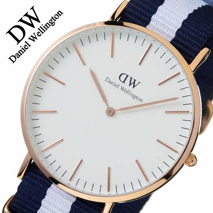 【5年保証対象】ダニエルウェリントン 腕時計 DanielWellington 時計 ダニエルウェリントン腕時計 Daniel Wellington 腕時計 クラシック グラスゴー ローズ CLASSIC 40mm メンズ レディース 0104DW 革ベルト シンプル 送料無料