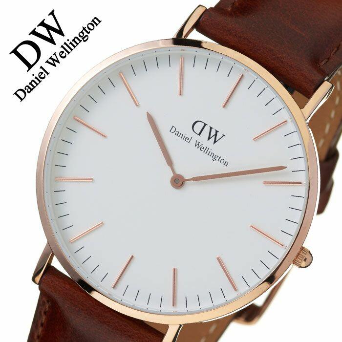 【5年保証対象】ダニエルウェリントン 腕時計 DanielWellington 時計 ダニエルウェリントン時計 Daniel Wellington 腕時計 クラシック セントアンドルーズ ローズ CLASSIC 40mm メンズ レディース 0106DW 革ベルト 送料無料