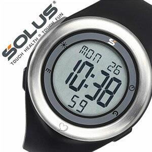 ソーラス腕時計 SOLUS時計 SOLUS 腕時計 ソーラス 時計 レジャー910 Leisure 910 シルバー ブラック 01-910-001 [正規品 スポーツ ダイエット エクササイズ シニア メンズ レディース 男女兼用 ユニセックス][バーゲン プレゼント ギフト][おしゃれ 腕時計]