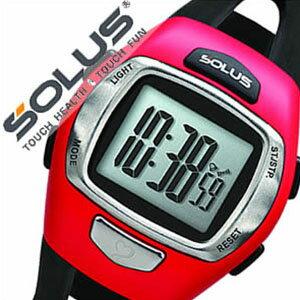 ソーラス腕時計 SOLUS時計 SOLUS 腕時計 ソーラス 時計 レジャー930 Leisure 930 シルバー レッド ブラック 01-930-007 [正規品 スポーツ ダイエット エクササイズ プッシュボタン式 シニア ギフト バーゲン プレゼント ご褒美][おしゃれ 腕時計]