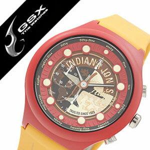 ジーエスエックス腕時計 GSX時計 GSX 腕時計 ジー エス エックス 時計 INDIANA JONES 腕時計 インディ ジョーンズ 時計 メンズ レディース オレンジ ブラウン GSX-SMARTSTYLE-46 コラボモデル Adventure 数量限定モデル 純国産 日本製 レッド[ 父の日 父の日ギフト ]