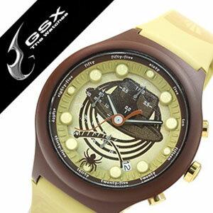 ジーエスエックス腕時計 GSX時計 GSX 腕時計 ジー エス エックス 時計 INDIANA JONES 腕時計 インディ ジョーンズ 時計 メンズ レディースブラウン イエロー GSX-SMARTSTYLE-47 コラボモデル INDIANA JONES 数量限定モデル 純国産 日本製 ゴールド