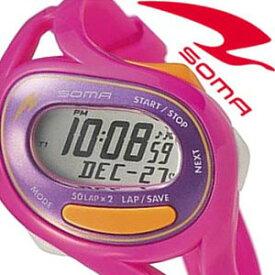 【延長保証対象】セイコー ソーマ 腕時計 SEIKO SOMA 時計 セイコーソーマ ラン ワン Run ONE メンズ レディース シルバー×パープル DWJ23-0006 スポーツウォッチ スポーツ ランウォッチ ジョギング マラソン トレーニング ジム 陸上 部活 人気 ダイエット