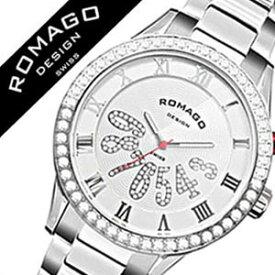 ロマゴ 時計 ROMAGO 時計 ロマゴ 腕時計 ROMAGO 腕時計 ロマゴデザイン ROMAGODESIGN ロマゴ デザイン ROMAGO DESIGN ロマゴデザイン時計 ラグジュアリー シリーズ メンズ レディース ホワイト RM019-0214SS-SVWH 白 シルバー 人気 ブランド 送料無料