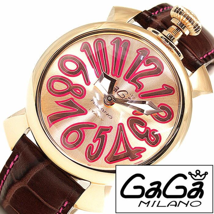 ガガミラノ GaGaMILANO ガガミラノ 腕時計 GaGaMILANO 腕時計 ガガ ミラノ GaGa MILANO ガガミラノ 時計 GaGaMILANO時計 ガガ腕時計 GaGa腕時計 ゴールド ピンクゴールド 18K PVD 40MM メンズ レディース GG-50218 新作 人気 レザーベルト 送料無料