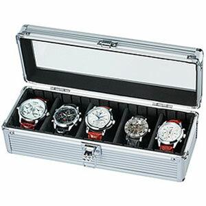「腕時計の収納方法でお困りの方へ♪」5本収納コレクションケース コレクションボックス 時計収納ケースSE-54015AL ディスプレイ ウォッチケース 時計ケース 腕時計ケース プレゼント ギフト 祝い[ 新社会人 就職祝い ]