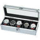 「腕時計の収納方法でお困りの方へ♪」5本収納コレクションケース[コレクションボックス]時計収納ケースSE-54015AL[ディスプレイ ウォッチケース 時計ケー...