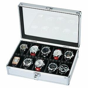 「腕時計の収納方法でお困りの方へ♪」10本収納コレクションケース コレクションボックス 時計収納ケースSE-54020AL ディスプレイ ウォッチケース 時計ケース 腕時計ケース プレゼント 祝い