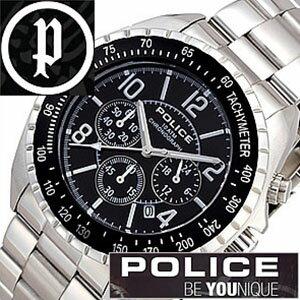【5年保証対象】ポリス 腕時計 POLICE 腕時計 ポリス 時計 POLICE 時計 ポリス腕時計 POLICE腕時計 ポリス時計 POLICE時計 ニューネイビー NEW NAVY メンズ ブラック 12545JS-02M クロノグラフ メタルベルト シルバー 銀 黒 送料無料[ 成人式 成人 祝い ]