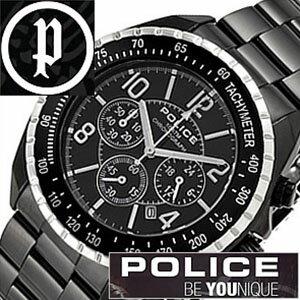 【5年保証対象】ポリス 腕時計 POLICE 腕時計 ポリス 時計 POLICE 時計 ポリス腕時計 POLICE腕時計 ポリス時計 POLICE時計 ニューネイビー NEW NAVY メンズ ブラック 12545JSBS-02M クロノグラフ メタルベルト シルバー 黒 銀 送料無料[ 父の日 父の日ギフト ]