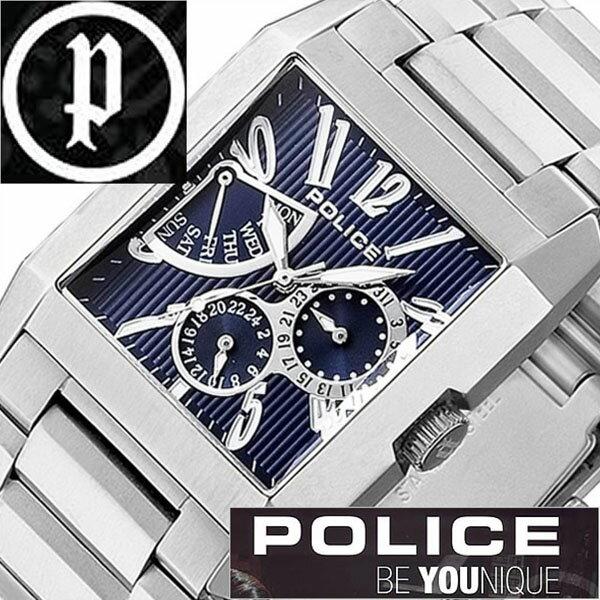 【5年保証対象】ポリス 腕時計 POLICE 腕時計 ポリス 時計 POLICE 時計 ポリス腕時計 POLICE腕時計 ポリス時計 POLICE時計 キングス アベニュー KING'S AVENUE メンズ ネイビー 13789MS-03M メタルベルト シルバー 銀 青 送料無料[ 成人式 成人 祝い ]