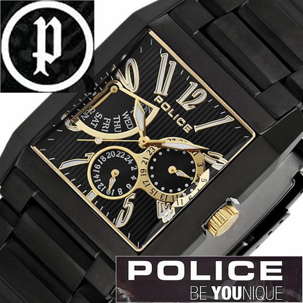 【5年保証対象】ポリス 腕時計 POLICE 腕時計 ポリス 時計 POLICE 時計 ポリス腕時計 POLICE腕時計 ポリス時計 POLICE時計 キングス アベニュー KING'S AVENUE メンズ ブラック 13789MSB-02MA メタルベルト ゴールド 黒 金 送料無料[ 成人式 成人 祝い ]
