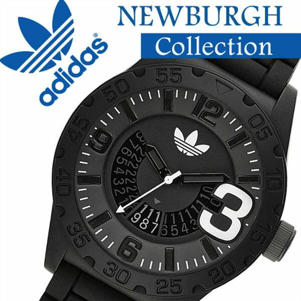 adidas 時計 [アディダス 腕時計] adidas originals 腕時計 [アディダス オリジナルス 時計] [アディダス時計] adidas時計 ニューバーグ NEWBURGH メンズ ブラック ADH2963 [ラバー ベルト 人気 新作 防水 ブランド ホワイト][おしゃれ 腕時計]