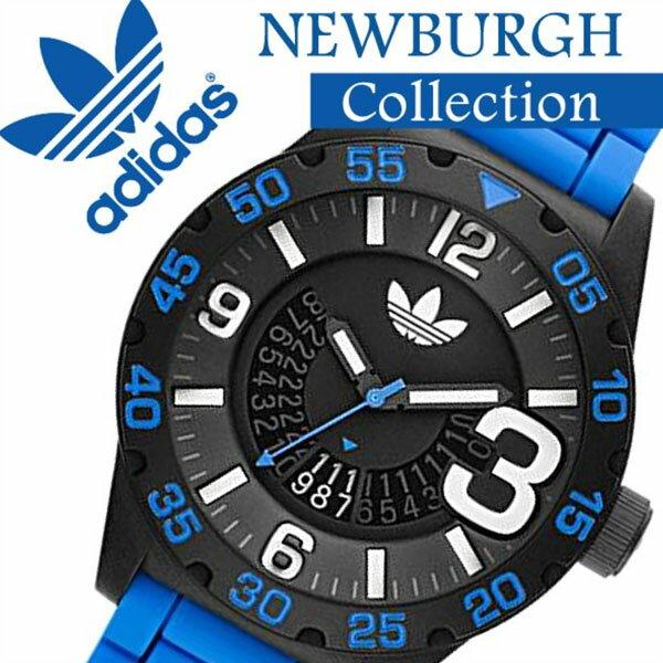 [アフターセール]adidas 時計 アディダス 腕時計 adidas originals 腕時計 アディダス オリジナルス 時計 adidasoriginals 腕時計 アディダス時計 adidas時計 ニューバーグ NEWBURGH メンズ ブラック ADH2966 ラバー ベルト 人気 新作 防水 ブランド ブルー シンプル