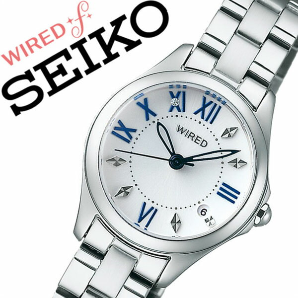 【5年保証対象】ワイアードエフ腕時計 WIREDf時計 WIRED f 腕時計 ワイアード エフ 時計 レディース ホワイト AGEK424 メタル ベルト 正規品 SEIKO マスコミ モデル ペア モデル シルバー ブルー 送料無料[ 入学祝い 卒業祝い ]