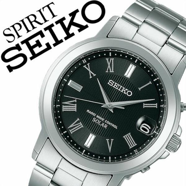 セイコー腕時計 SEIKO時計 SEIKO 腕時計 セイコー 時計 スピリット SPIRIT メンズ ブラック SBTM191 [メタル ベルト 正規品 ソーラー 電波 限定 防水 シルバー シンプル ギフト バーゲン プレゼント ご褒美][おしゃれ 腕時計][ 入学祝い 卒業祝い ]