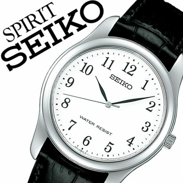 【5年保証対象】セイコー腕時計 SEIKO時計 SEIKO 腕時計 セイコー 時計 スピリット SPIRIT メンズ ホワイト SCXP033 革 ベルト 正規品 限定 防水 ブラック シルバー シンプル ペアモデル 送料無料[ 新社会人 就職祝い ]