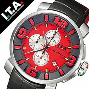 【5年保証対象】アイティーエー 腕時計 I.T.A. 腕時計 アイティーエー 時計 I.T.A. 時計 ITA ITA腕時計 ITA時計 カサノバ クロノ ロッソ CASANOVA CHRONO Rosso メンズ レッド 12.70.14 革 ベルト クロノグラフ ブラック 正規品 ブランド 限定 限定450本 送料無料
