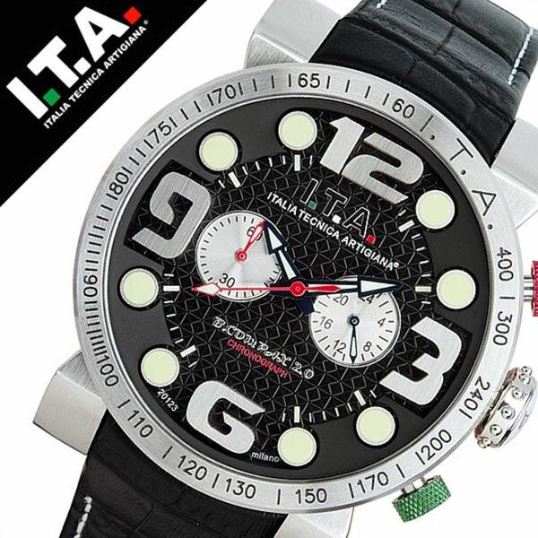 【5年保証対象】アイティーエー 腕時計 I.T.A. 腕時計 アイティーエー 時計 I.T.A. 時計 ITA ITA腕時計 ITA時計 ビーコンパックス B.COMPAX 2 メンズ ブラック 18.00.02 革 ベルト クロノグラフ 正規品 イタリア ブランド ファッション ウォッチ 送料無料