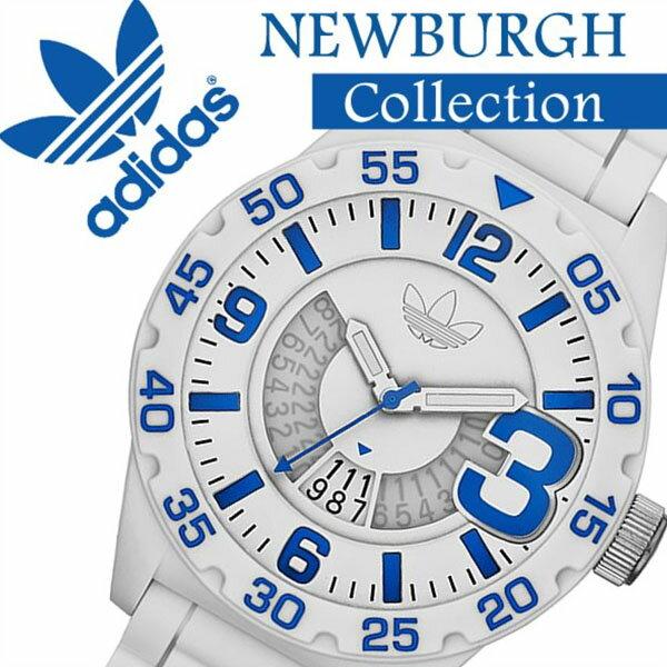 【5,368円割引】アディダス 腕時計 adidas 時計 アディダス 時計 adidas originals 腕時計 アディダス オリジナルス 時計 adidasoriginals 腕時計 アディダス時計 ニューバーグ NEWBURGH メンズ レディース ホワイト ADH3012 スポーツ ウォッチ ブランド ブルー 送料無料