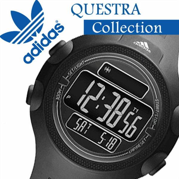 アディダスパフォーマンス 腕時計 adidasPerformance 時計 アディダス パフォーマンス 時計 adidas Performance 腕時計 アディダス腕時計 クエストラ QUESTRA メンズ ブラック ADP6080 マラソン 人気 ラバー ベルト スポーツ ウォッチ 液晶 デジタル ブランド シルバー