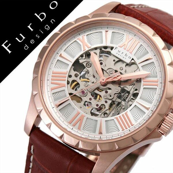 【5年保証対象】フルボデザイン 腕時計 Furbodesign 時計 フルボ デザイン 時計 Furbo design 腕時計 自動巻き 腕時計 機械式 腕時計 メンズ シルバー ゴールド F5021PSIBR 人気 新作 ブランド レザ- 機械式 自動巻き 自動巻 スケルトン ピンク ゴールド 送料無料