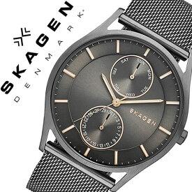 スカーゲン 腕時計[SKAGEN 時計]スカーゲン 時計[SKAGEN 腕時計]スカーゲン腕時計[SKAGEN時計]ホルスト Holst メンズ レディース グレー SKW6180 [人気 新作 流行 ブランド 防水 革 ベルト レザー 北欧 薄型 バーゲン プレゼント ギフト][おしゃれ 腕時計]