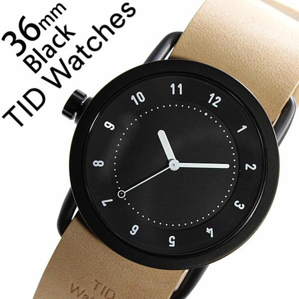 【5年保証対象】 ティッドウォッチズ ティッドウォッチ 腕時計 TIDWatches 時計 ティッド ウォッチ 時計 TID Watches 腕時計 TIDNo. 1 レディース ブラック TID01-BK36-N 革 ベルト おしゃれ インスタ モデル 通販 北欧 ペア ベージュ ブラウン ホワイト 送料無料