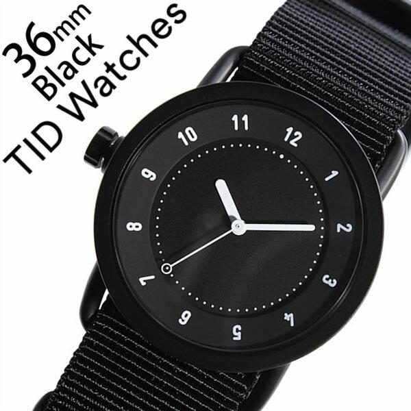 【5年保証対象】 ティッドウォッチズ ティッドウォッチ 腕時計 TIDWatches 時計 ティッド ウォッチ 時計 TID Watches 腕時計 TIDNo. 1 レディース ブラック TID01-BK36-NBK NATO ベルト おしゃれ インスタ モデル 通販 北欧 ペア ホワイト ナトー 送料無料 [ クリスマス ]