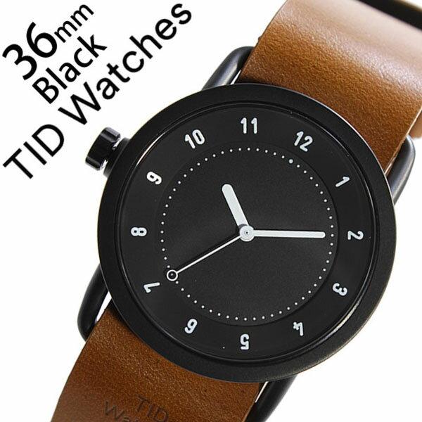 【5年保証対象】 ティッドウォッチズ ティッドウォッチ 腕時計 TIDWatches 時計 ティッド ウォッチ 時計 TID Watches 腕時計 TIDNo. 1 レディース ブラック TID01-BK36-T 革 ベルト おしゃれ インスタ モデル 通販 北欧 ペア ブラウン ホワイト 送料無料 [ クリスマス ]