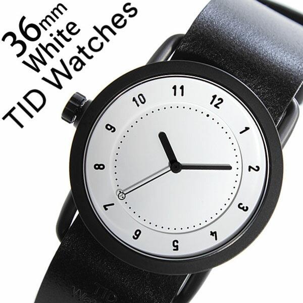 【5年保証対象】 ティッドウォッチズ ティッドウォッチ 腕時計 TIDWatches 時計 ティッド ウォッチ 時計 TID Watches 腕時計 TIDNo. 1 レディース ホワイト TID01-WH36-BK 革 ベルト おしゃれ インスタ モデル 通販 北欧 ペア ブラック 送料無料 [ クリスマス プレゼント ]