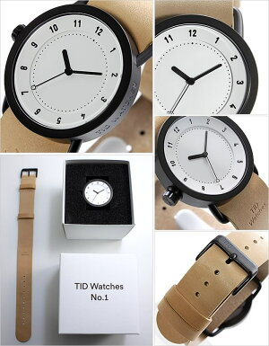 【安心の国内正規品】【長期5年保証対象】ティッドウォッチ腕時計[TIDWatches時計]ティッドウォッチ時計[TIDWatches腕時計]TIDNo.136mmメンズ/レディース[新作/ブランド/人気/革ベルト/おしゃれ/北欧/ベージュ/ブラウン/シンプル/通販][送料無料]