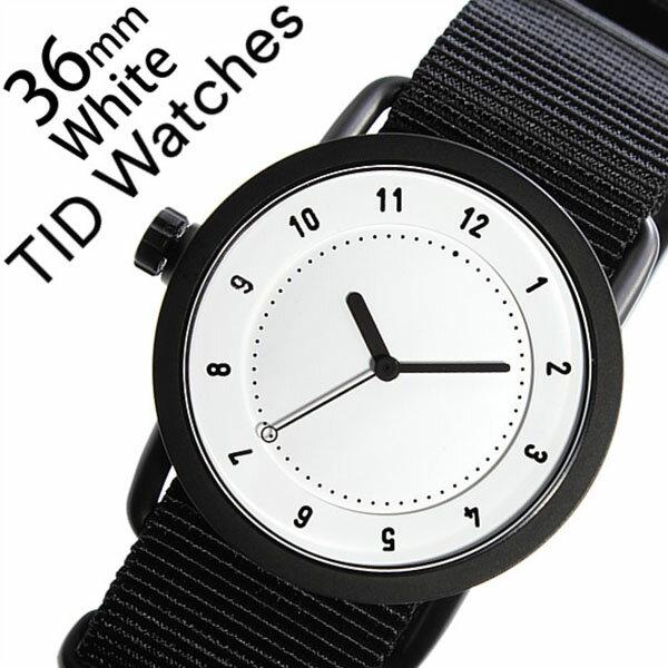 【5年保証対象】 ティッドウォッチズ ティッドウォッチ 腕時計 TIDWatches 時計 ティッド ウォッチ 時計 TID Watches 腕時計 TIDNo. 1 レディース ホワイト TID01-WH36-NBK NATO ベルト おしゃれ インスタ モデル 通販 北欧 ペア ブラック ナトー 送料無料 [ クリスマス ]