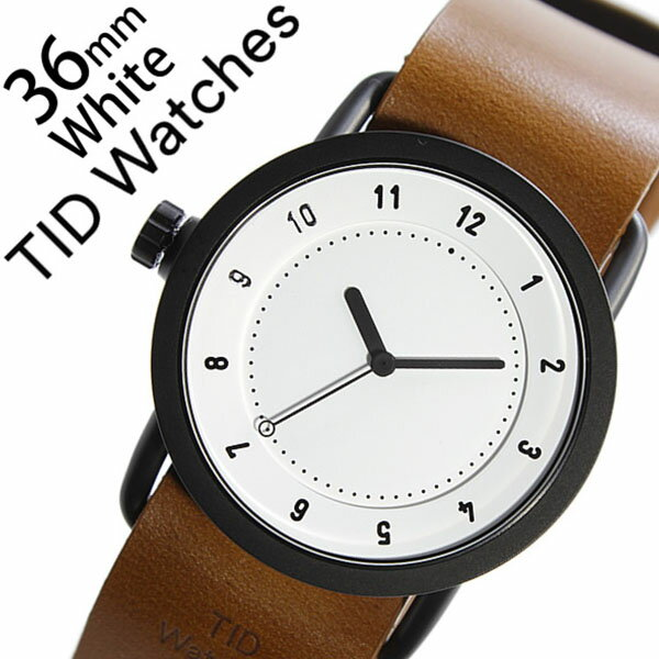 【5年保証対象】 ティッドウォッチズ ティッドウォッチ 腕時計 TIDWatches 時計 ティッド ウォッチ 時計 TID Watches 腕時計 TIDNo. 1 レディース ホワイト TID01-WH36-T 革 ベルト おしゃれ インスタ モデル 通販 北欧 ペア ブラウン ブラック 送料無料 [ クリスマス ]