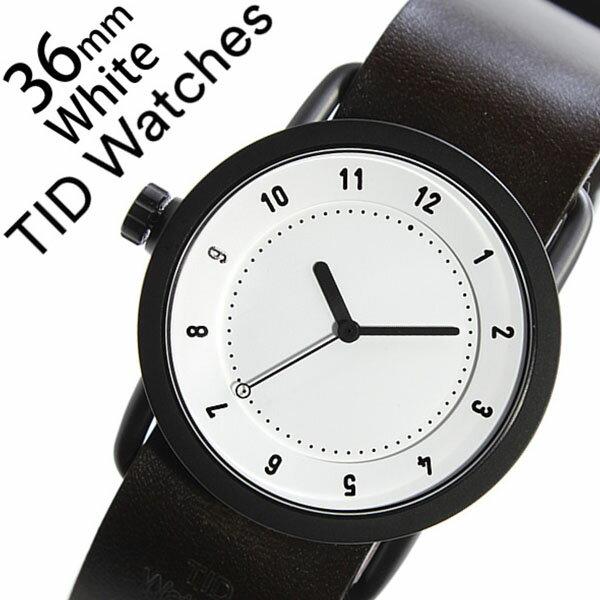【5年保証対象】 ティッドウォッチズ ティッドウォッチ 腕時計 TIDWatches 時計 ティッド ウォッチ 時計 TID Watches 腕時計 TIDNo. 1 レディース ホワイト TID01-WH36-W 革 ベルト おしゃれ インスタ モデル 通販 北欧 ペア ダーク ブラウン ブラック 送料無料