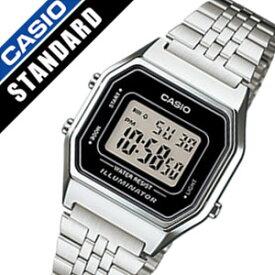 bb830657e0 カシオ腕時計 CASIO時計 CASIO 腕時計 カシオ 時計 スタンダード STANDARD レディース ブラック LA-680WA-
