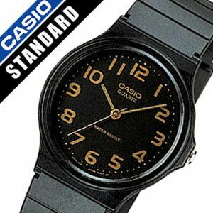 カシオ腕時計 CASIO時計 CASIO 腕時計 カシオ 時計 スタンダード STANDARD メンズ ブラック MQ-24-1B2L [ラバー ベルト チープカシオ チプカシ 海外 モデル オールブラック ゴールド アナログ][バーゲン プレゼント ギフト][おしゃれ 腕時計]