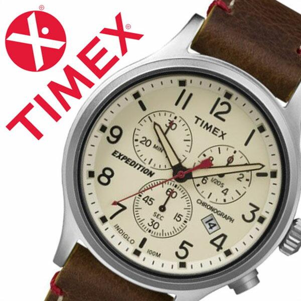 タイメックス腕時計 TIMEX時計 TIMEX 腕時計 タイメックス 時計 スカウト クロノ Scout Chrono メンズ ホワイト TW4B04300 [正規品 革 ベルト 新品 ファッションウォッチ ミリタリーテイスト ブラウン シルバー ナチュラル][バーゲン プレゼント ギフト][おしゃれ 腕時計]