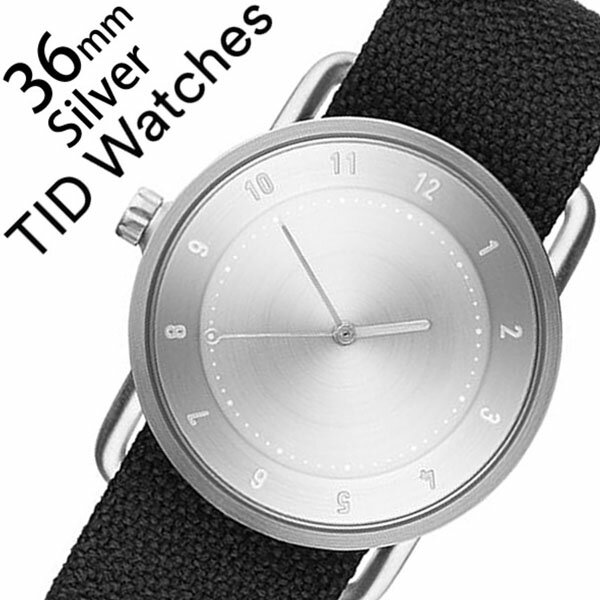 ティッドウォッチズ 腕時計 メンズ レディース 男女兼用 [TID watches] シルバー TID02-SV36-COAL [No.2 正規品 おしゃれ 北欧 シンプル 革 レザー バンド シルバー][クリスマス ギフト][プレゼント ギフト][おしゃれ腕時計]