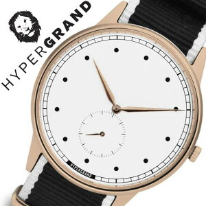 ハイパーグランド腕時計HYPERGRAND時計ハイパーグランド時計HYPERGRAND腕時計シグネチャーナトーSIGNATURENATOメンズレディースホワイトNWSGRWMONO[カジュアルファッションオシャレおしゃれシンガポール替えベルト時計][送料無料]