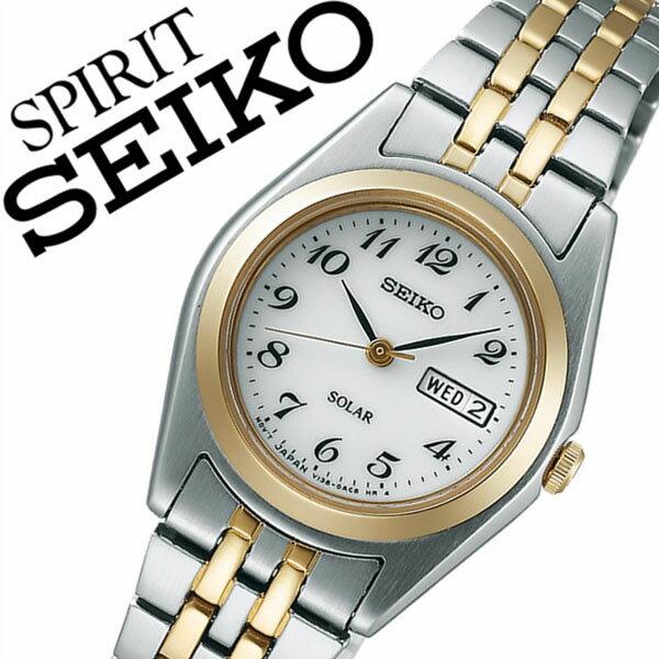 セイコー スピリット 腕時計[SEIKO SPIRIT 時計]セイコー 時計[SEIKO 腕時計]セイコー スピリット時計[SEIKO SPIRIT時計]レディース ホワイト STPX016 [スピリッツ メタル ベルト ソーラー シルバー ゴールド シンプル][バーゲン プレゼント ギフト][ 入学祝い 卒業祝い ]