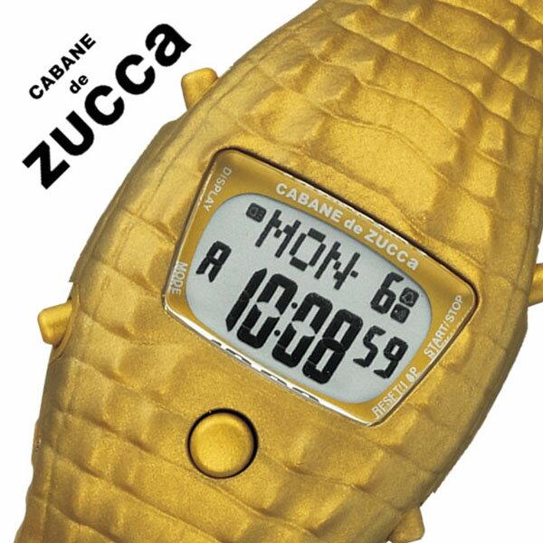 【5年保証対象】カバン ド ズッカ 腕時計 CABANE de ZUCCA 時計 カバンド ズッカ 時計 CABANE de ZUCCA 腕時計 カバンドズッカ腕時計 CABANEdeZUCCA時計 クロック・ダイル Clock-Dile メンズ レディース ゴールド AJGM702 液晶 復刻 人気 動物 ワニ 送料無料