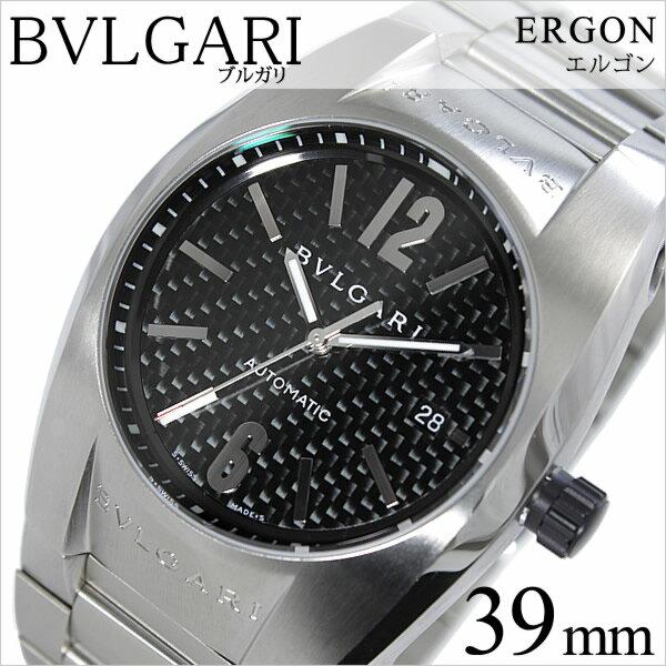 ブルガリ 腕時計 BVLGARI 時計 ブルガリ 時計 BVLGARI 腕時計 ブルガリ時計 BVLGARI腕時計 ブルガリ腕時計 エルゴン ERGON メンズ ブラック EG40BSSDN blugari メタル ベルト 機械式 自動巻 メカニカル スイス シルバー オート マチック 高級 ブランド 送料無料