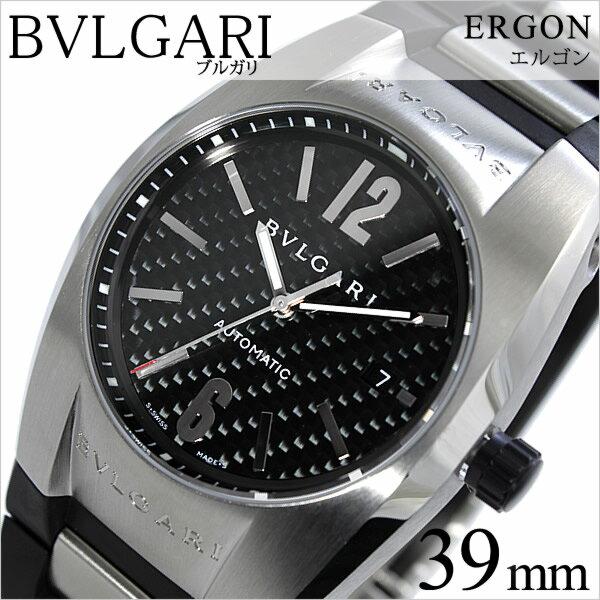 ブルガリ 腕時計 [BVLGARI時計]( BVLGARI 腕時計 ブルガリ 時計 ) エルゴン ( ERGON ) メンズ ブラック EG40BSVD [ウレタン ベルト 機械式 自動巻 メカニカル スイス シルバー オート ボーイズ][バーゲン プレゼント ギフト][おしゃれ 腕時計][ 新社会人 就職祝い ]