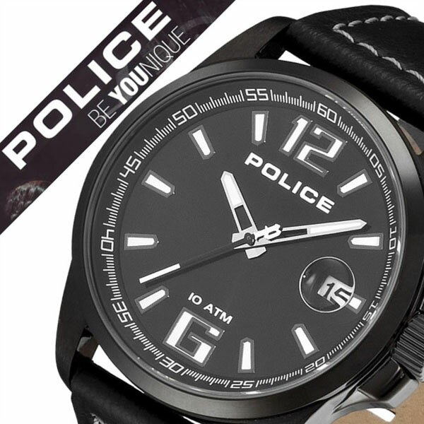 ポリス 腕時計 [POLICE時計]( POLICE 腕時計 ポリス 時計 ) ランサー ( LANCER ) メンズ 腕時計 ブラック 12591JVSUB-02 [革 ベルト 正規品 クオーツ 防水 人気 シルバー][バーゲン プレゼント ギフト][おしゃれ 腕時計]