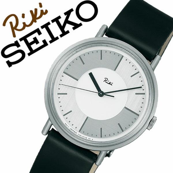 セイコーアルバ 腕時計 (SEIKO ALBA 腕時計 セイコー アルバ 時計) リキ ワタナベ コレクション (RIKI WATANABE COLLECTION) メンズ レディース ユニセックス 腕時計 シルバー AKPT024 [革 ベルト 正規品 クォーツ アナログ ブラック ホワイト]